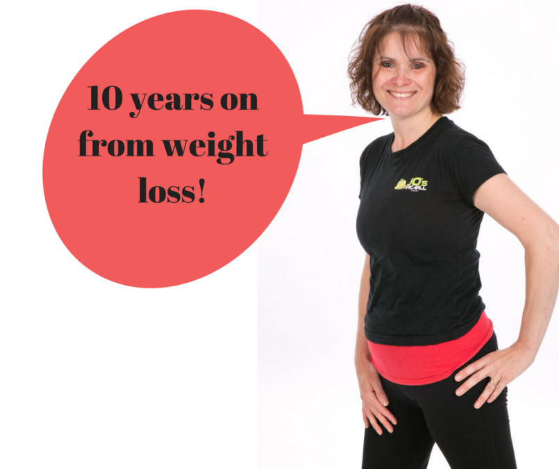10 years on from weight loss blog